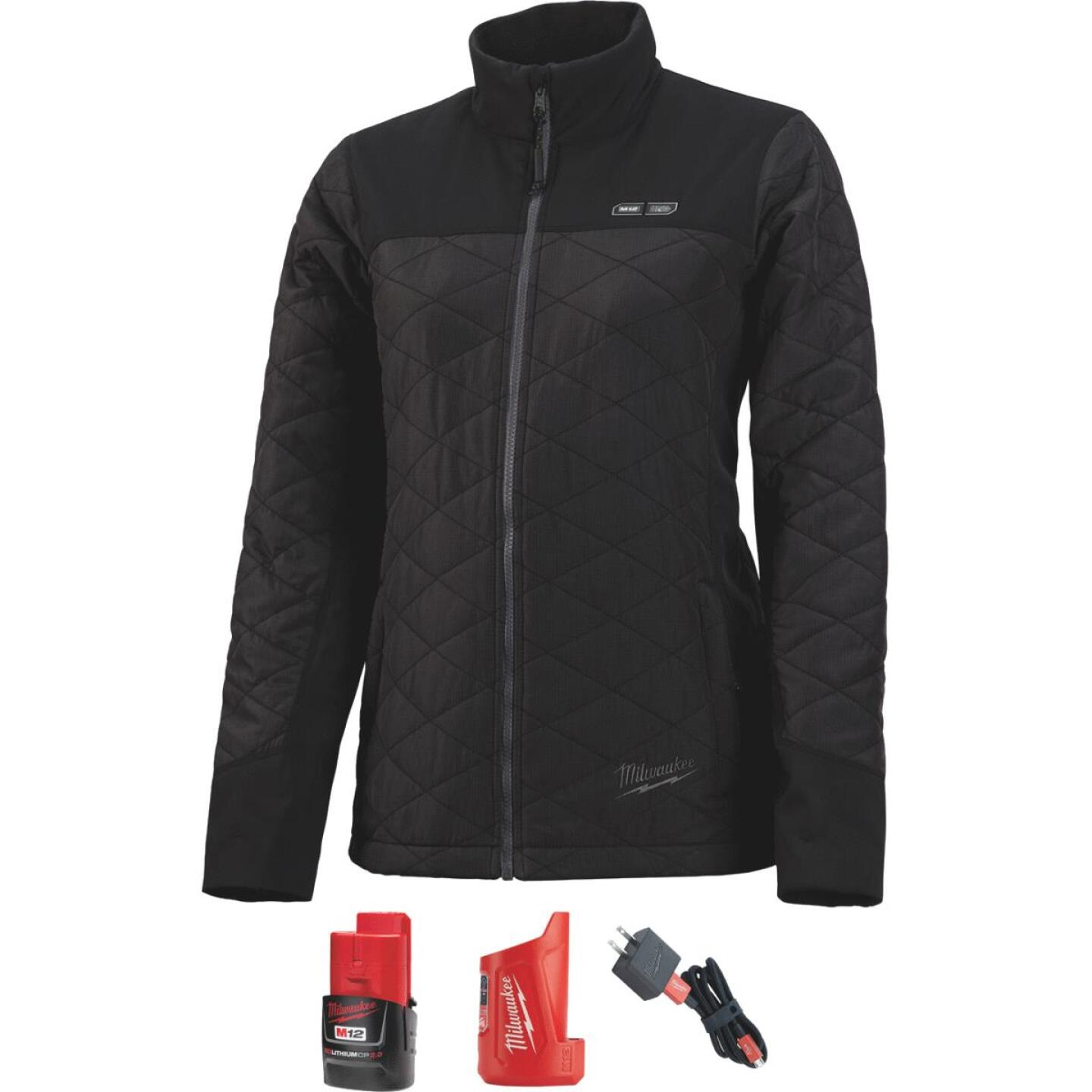 Milwaukee M12 Large Black Cordless Ladies Heated Jacket Kit Image 1